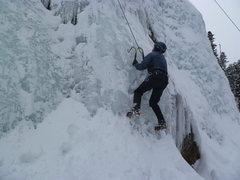 Rock Climbing Photo: Rick near the bottom.