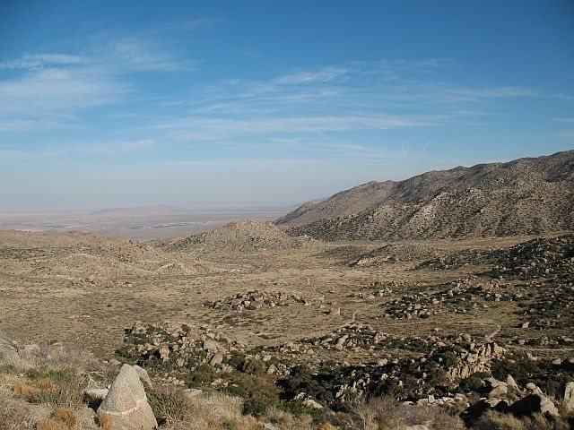 Looking down onto the Cottonwood Area, Culp Valley
