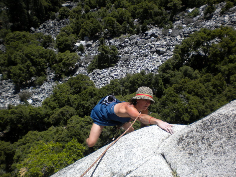 Rock Climbing Photo: Casual Friday on Serenity Crack, Yosemite