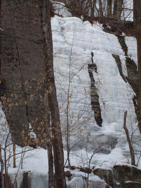 Rock Climbing Photo: Taster's Choice takes the left of these two ice st...