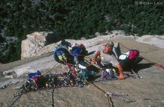 Rock Climbing Photo: Boot Flake Belay, Tribal Rite Summer '99