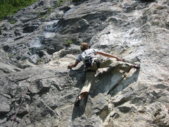 Rock Climbing Photo: Tristan leading one of many fun routes at the Gale...