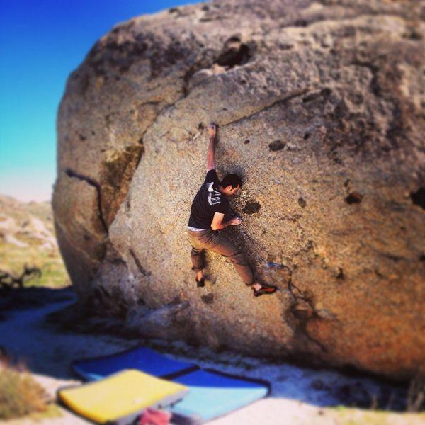 Rock Climbing Photo: Addison on First Black Robot