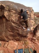 Rock Climbing Photo: Top out is tough