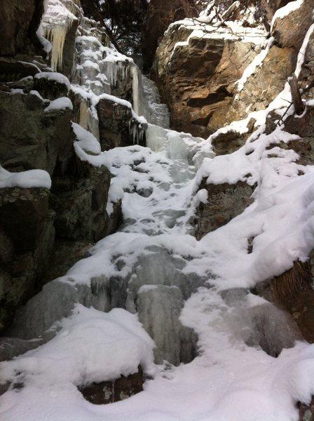 "Rock Climbing Photo: ""Mandalay Way""..  Cool 2+ ice runnel DLS..."