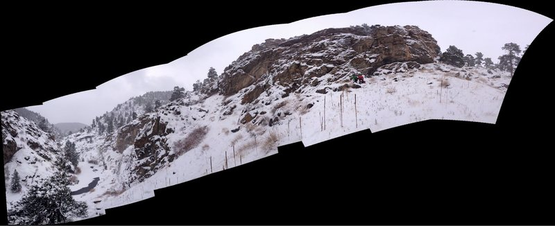 Panorama shot of M3 Crag.