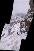 Rock Climbing Photo: CB & CS enjoying a great snowy day @ M3.