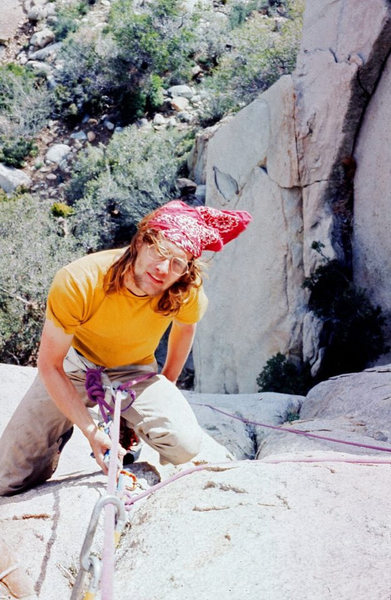 Rock Climbing Photo: Falling Ross 5.10 1977/78