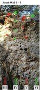 Rock Climbing Photo: South Wall 3 - 5