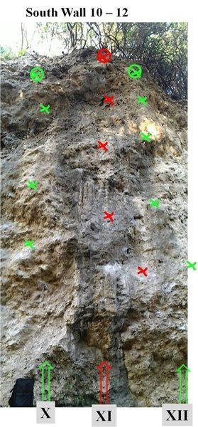 Rock Climbing Photo: South Wall 10 - 12