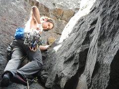 Rock Climbing Photo: Matt on the FA Onsight!