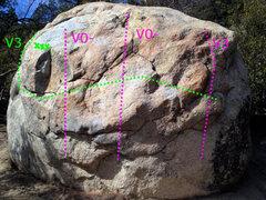 Rock Climbing Photo: The Meteorite Boulder. When traversing, do not mov...