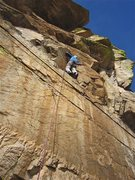 Rock Climbing Photo: Jimbo just after the lower crux section.  From her...