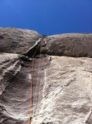 Rock Climbing Photo: Nathan putting up the bolts on pitch 4.