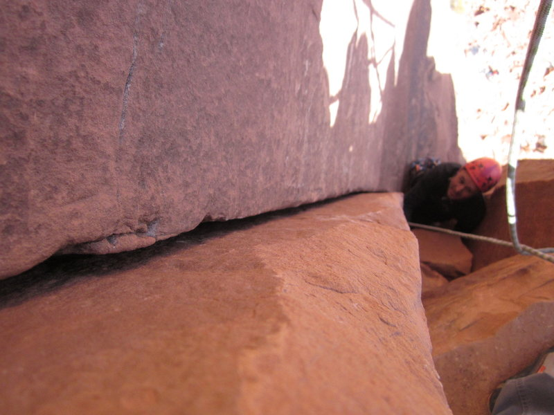 Rock Climbing Photo: almost there