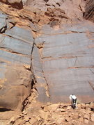 Rock Climbing Photo: leroy in fron of Notovitch codex