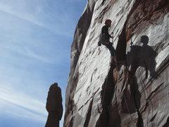 Rock Climbing Photo: rapping off S=k log W