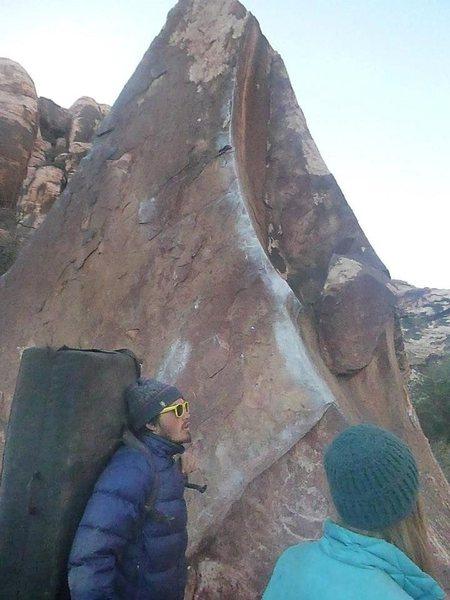 Rock Climbing Photo: the porkchop boulder in Calico Basin, Red Rocks