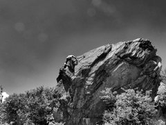 """Rock Climbing Photo: Aaron James Parlier on the FA of """"Earthly Par..."""