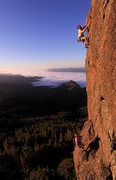 Rock Climbing Photo: Eric Berghorn and Jerry Dodrill on upper face, Sma...