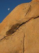 Rock Climbing Photo: Early morning moon over Toe Jam