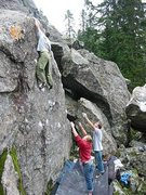 Rock Climbing Photo: Slab by the road.