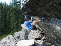 Rock Climbing Photo: One of the best problems at BM. Think we called it...