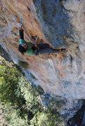 Rock Climbing Photo: Rodrigo making the clip