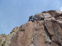 Rock Climbing Photo: At the top of the first section.