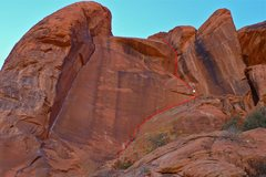 Rock Climbing Photo: Laugh With the Sinners, with the belay indicated i...