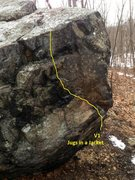 Rock Climbing Photo: Jugs in a Jacket. Whipple Hill Boulder. Lexington,...