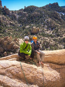 Rock Climbing Photo: The ledge before you get to the belay bolts for th...