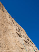 Rock Climbing Photo: Second Pitch, 40 foot runouts.  The chicken heads ...