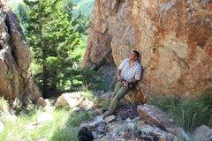 Rock Climbing Photo: Belaying at the Bear Lake Monster