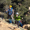 From about half way up the third pitch.  That belay station was created on 3 chicken heads and it was completely bomber.