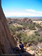 Rock Climbing Photo: RazRez prepping for the lead on OK Corral.