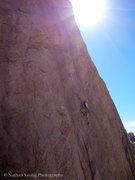 Rock Climbing Photo: RazRez leading.