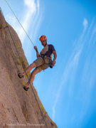 Rock Climbing Photo: RazRez being lowered after leading OK Corral