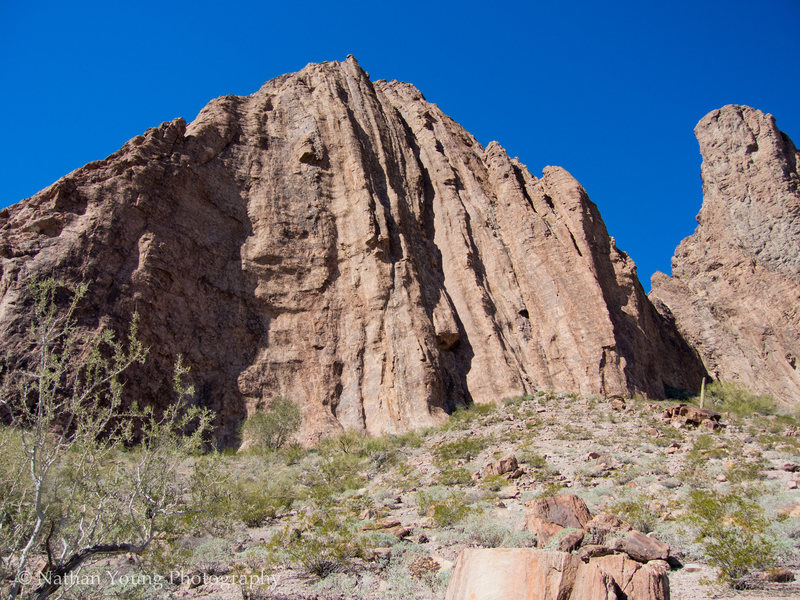 Rock Climbing Photo: From the approach, you can see idiopathic and the ...