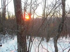 Rock Climbing Photo: winter sunset