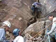 Rock Climbing Photo: cluster at dark shadows