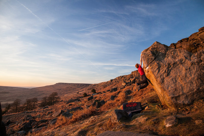 Rock Climbing Photo: Craig Bailey on The Bullworker on a perfect winter...