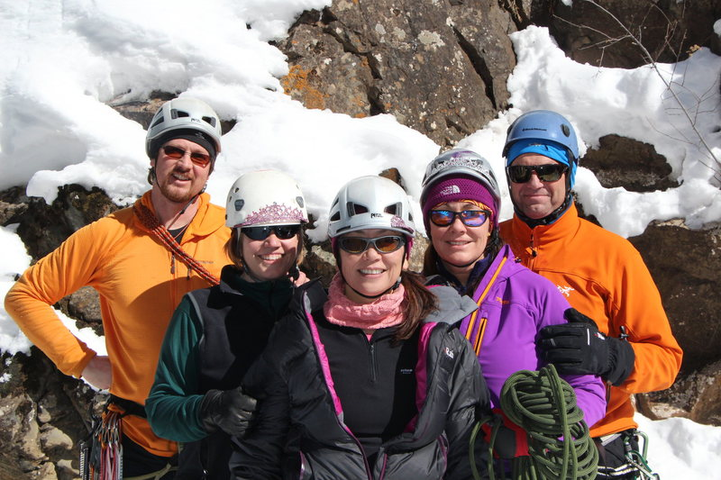 Rock Climbing Photo: Ouray Trip Feb 2013. Alan, Jenna, Joan, Dianna, St...