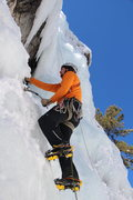Rock Climbing Photo: Leading at the Ouray Ice Park. Ouray Trip Feb 2013...