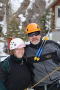 Rock Climbing Photo: Jenna and Chris. Ouray Trip Feb 2013. Photo by And...