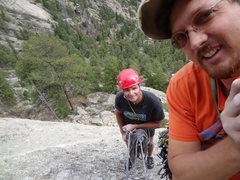 Rock Climbing Photo: Kevin Walker and I at Lumpy on Batman Rock.  Bat C...