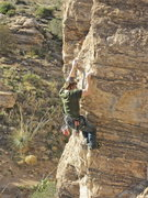 Rock Climbing Photo: Geir on the final moves. This is the end of the 35...