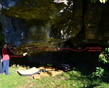 Rock Climbing Photo: Approaching Insanity and Du Hast