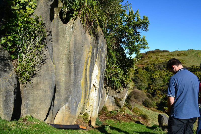 Rock Climbing Photo: Bouldering on limestone