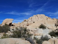 Rock Climbing Photo: Cuddlebone Dome from the trail, Joshua Tree NP